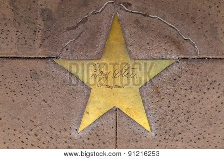 Star Of Kay Starr  On Sidewalk In Phoenix, Arizona.