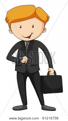 Closeup businessman in suit carrying a briefcase