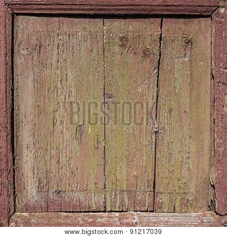 old weathered wood panel frame