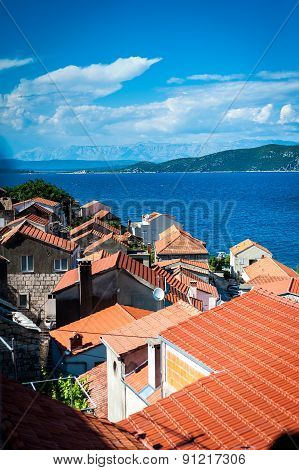 Panoramic View Of The Coast On The Island Of Korcula, Croatia