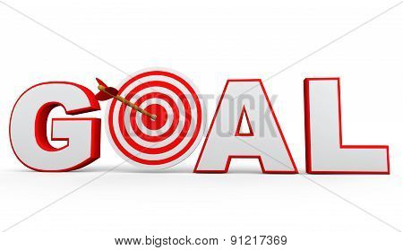 3D target arrow and goal