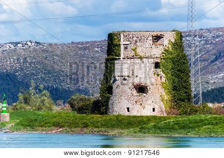 Remains Of Fortification Building From Ottoman Empire In Croatia
