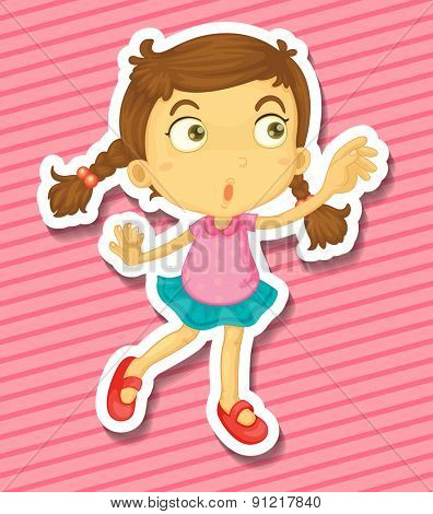 Closeup happy girl dancing alone