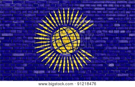 Flag Of Commonwealth Painted On Brick Wall