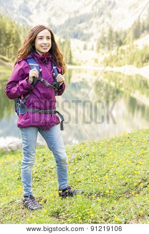 Attractive Woman On A Hiking Trip