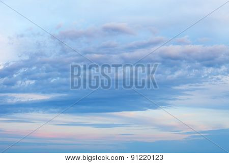 sky background with a nice sunset clouds