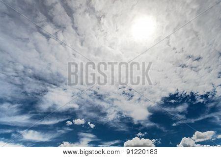 The Cloudy Blue Sky