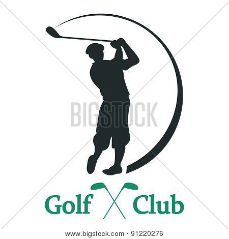 Golf club sign