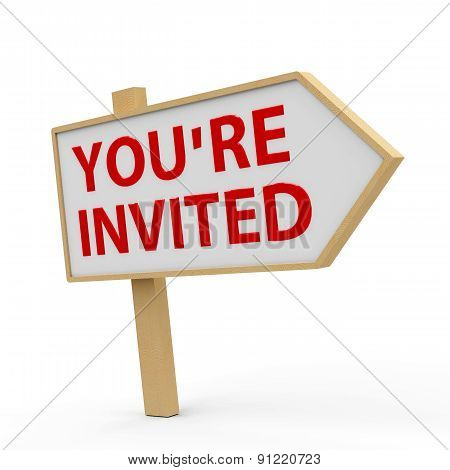 You Are Invited White Banner
