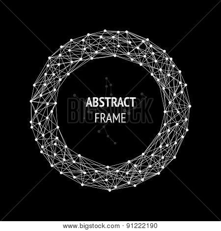 Abstract frame with connected lines and dots