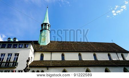 Historical Church In Zurich Horizontal