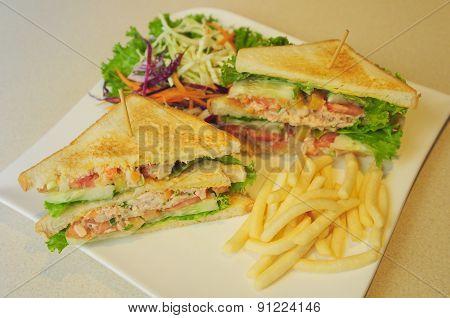 a set of club sandwich