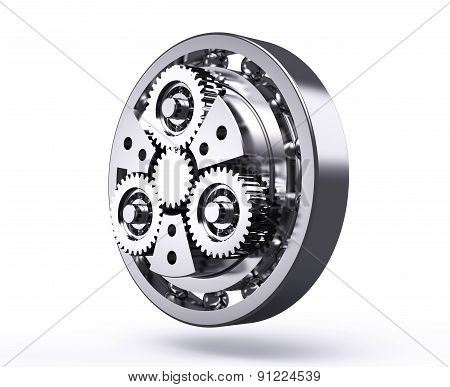 Planetary Gear Isolated On A White Background