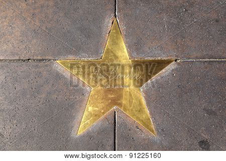 Star Of Tex Benelee  On Sidewalk In Phoenix, Arizona.