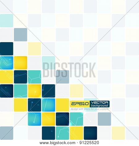 Abstract backgorund with squares of different colors