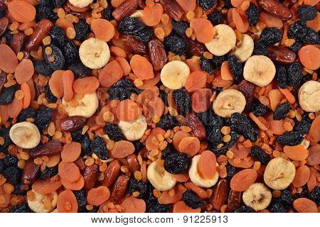 Assorted Dried Fruits Background