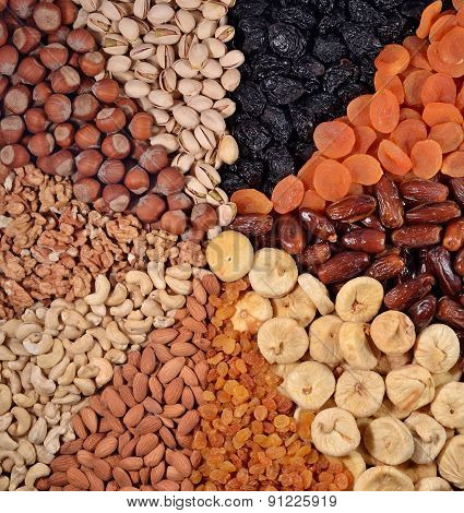 Assorted Nuts And Dried Fruits
