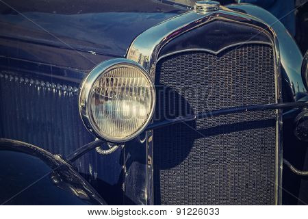 Retro Photo Of The Vintage Car Closeup