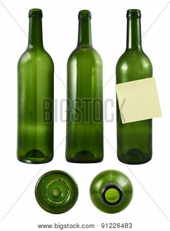 Glass bottle isolated