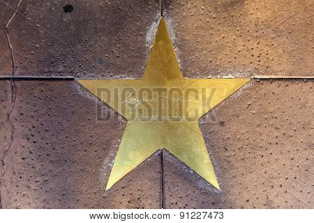 Star Of Ingrid Bergmann  On Sidewalk In Phoenix, Arizona.
