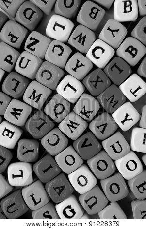 the grey letters