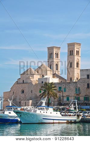 Panoramic view of Molfetta. Puglia. Southern Italy.