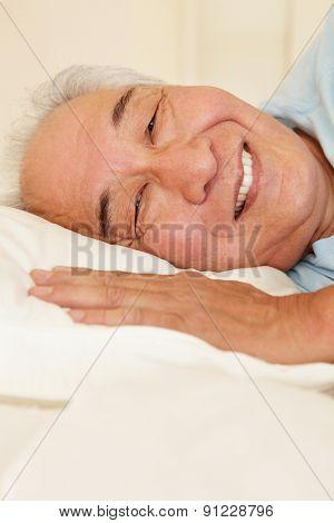 Senior Taiwanese man resting