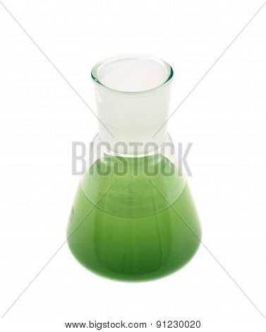 Erlenmeyer flask filled with liquid