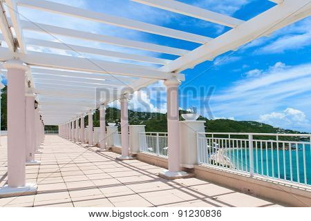 Perspective view of open terrace. Saint Thomas