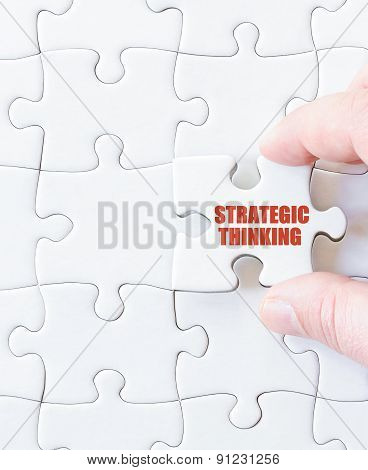 Last Puzzle Piece With Words Strategic Thinking