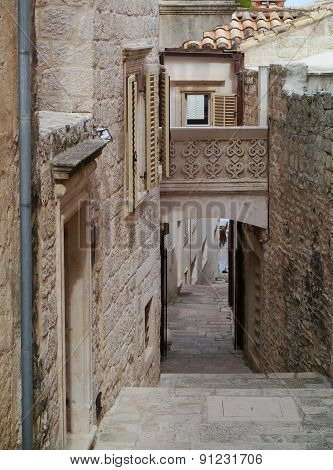 A narrow street in Korcula town