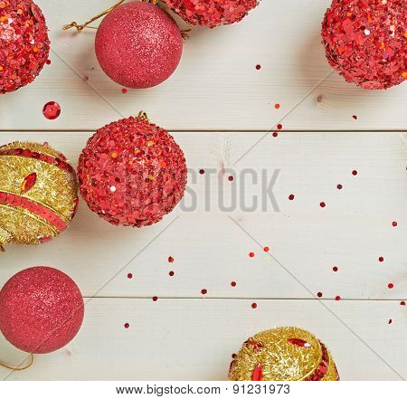 Festive christmas background composition