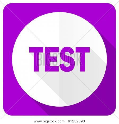 test pink flat icon