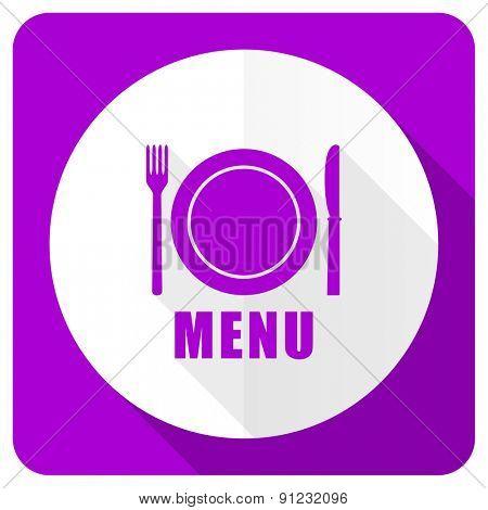 menu pink flat icon restaurant sign