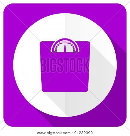 weight pink flat icon