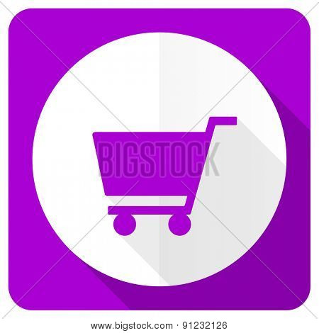 cart pink flat icon shop sign