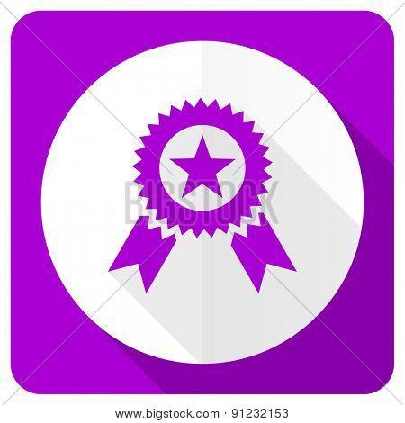 award pink flat icon prize sign