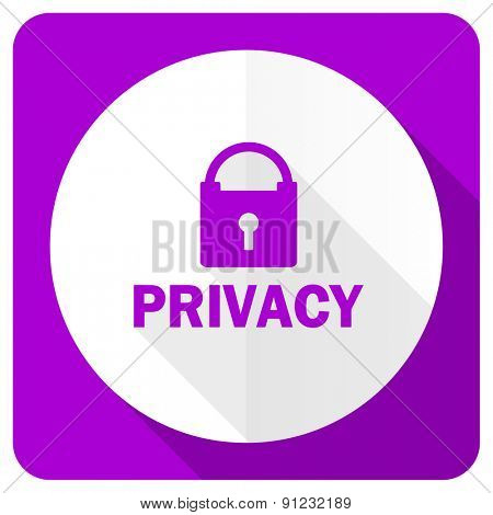privacy pink flat icon