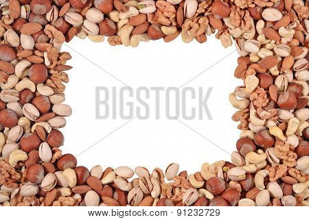 Frame Of Assorted Nuts