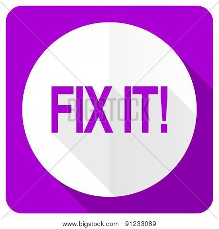fix it pink flat icon