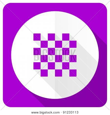 chess pink flat icon