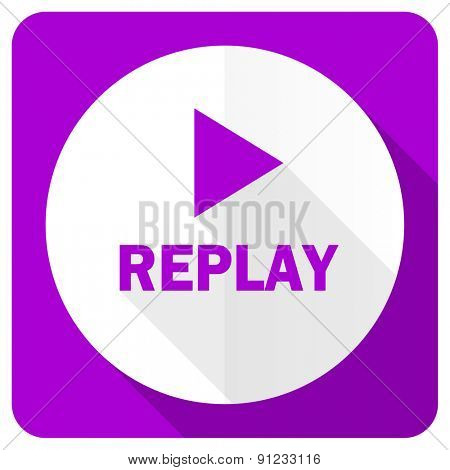 replay pink flat icon