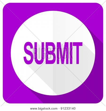 submit pink flat icon