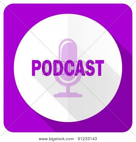 podcast pink flat icon