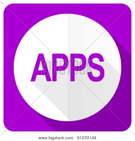 apps pink flat icon