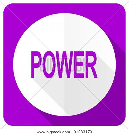power pink flat icon