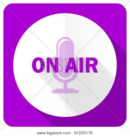 on air pink flat icon