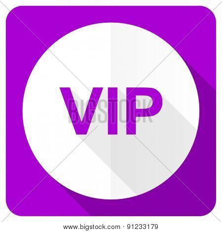 vip pink flat icon