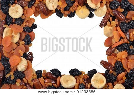 Frame Of Various Dried Fruits