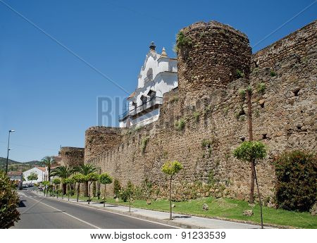 City Wall Of Plasencia, Spain.